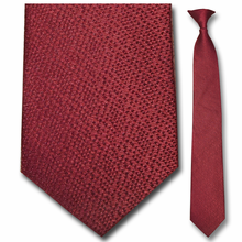 Men's Silk Narrow Burgundy Pattern Necktie