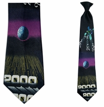 Mens 20th Century Theme Clip On Necktie