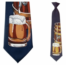 Mens Beer Barrel Clip On Necktie