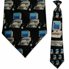 Mens Computer Clip On Necktie
