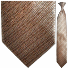 Men's Tan & Brown Faint Striped Necktie