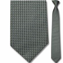 Men's Silk Narrow Green Pattern Clip-On Tie