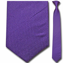 Men's Silk Narrow Purple Clip-On Tie