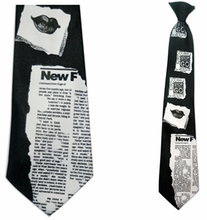 Mens News Theme  Clip On Necktie