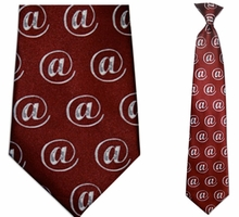 Mens @ Pattern Clip On Necktie