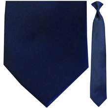 Men's Solid Satin Navy Clip-On Tie
