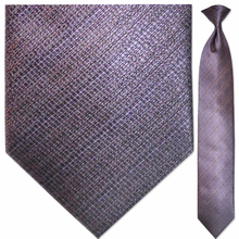 Men's Woven Purple Faint Striped Clip On Tie