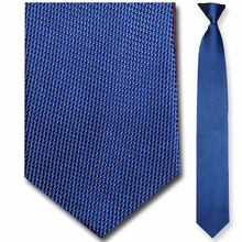 Men's Silk Narrow Blue + Gold Pixel Clip On Tie