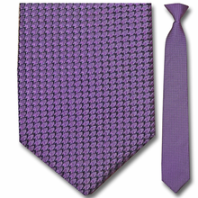 Men's Silk Narrow Purple Pattern Clip On Tie