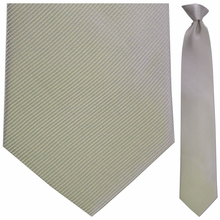 Mens Silk Woven Grey with White Pin Stripes Tie