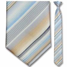 Men's Skinny Woven Pastel Striped Tie Clip-On Tie