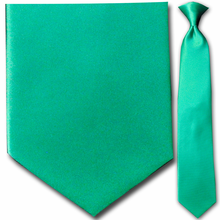 Men's Solid Kelly Green Clip-On Tie