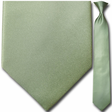 Men's Solid Olive Clip-On Tie