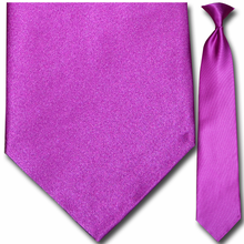 Men's Solid Purple Clip-On Tie