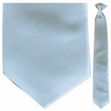 Men's Solid Silver Clip-On Tie