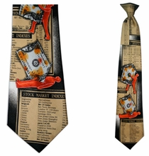 Mens Wall Street Clip On Necktie