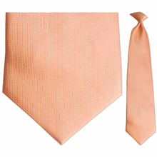 Mens Woven Orange Tie