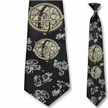 Men's Zodiac Theme Clip-On Tie