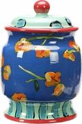 Betty's Pansies Cookie Jar