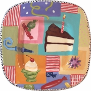 Birthday Party Small Square Platter
