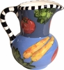 Black and White Vegetable Jug