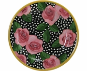 Black Rose Salad Plate