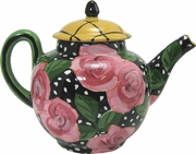 Black Rose Small Tea Pot