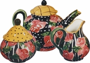 Black Rose Tea Set