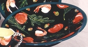 Black Shrimp Large Oval Platter
