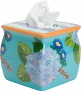 Blue Bouquet Tissue Holder