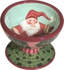 Christmas Gnome - Pedestal Bowl