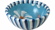 Daisy Blue Cereal Bowl