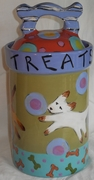 """Dogie Treats"" Canister (personalized)"