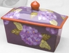Fall Floral Butter Dish