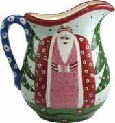 Father Christmas/Blue Large Pitcher