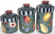 Fruit Blossom- Canister Set of 3