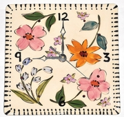 Fun Flower Square Clock