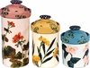 Geranium Clover Canister Set of 3