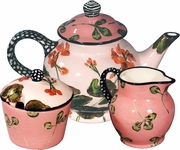Geranium Clover/Large Tea Set