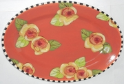 Golden Yellow Rose Small Oval Platter