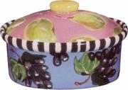 Grape/Pear Medium Oval Casserole
