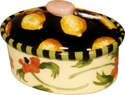 Lemon Poppy Medium Oval Casserole