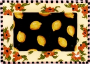 Lemon Poppy Rectangular Platter