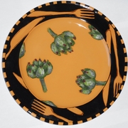 Let's Eat Dinner Plate/Artichoke