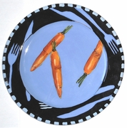 Let's Eat Dinner Plate/ Carrot