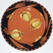 Let's Eat Dinner Plate/ Yellow Pepper