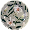 Lily Rimmed Dinner Plate