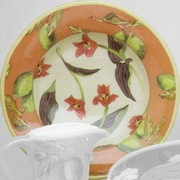 Lime/Flower Big Rimmed Bowl