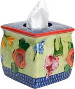 Marion's Flower Garden Tissue Holder
