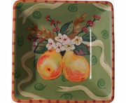 Pear Ribbon Square Bowl